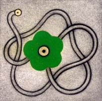 Flower power; green flower.